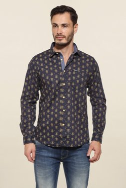 Pepe Jeans Black Printed Casual Shirt