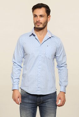 Pepe Jeans Blue Printed Casual Shirt