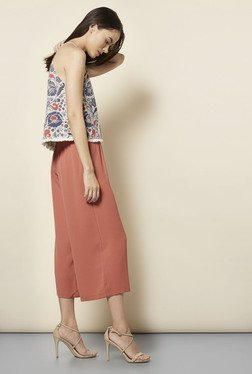 New Look Coral Drawstring Waist Culottes
