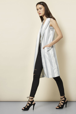 New Look Grey & White Striped Jacket