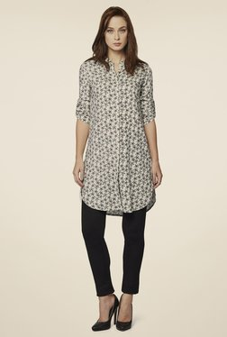 AND Black & White Daisy Blossom Shirt Tunic