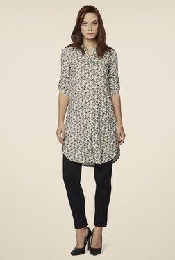 AND Black & White Daisy Blossom Shirt Tunic