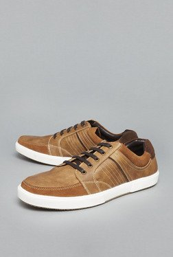 Azzurro Tan Lace Up Sneakers