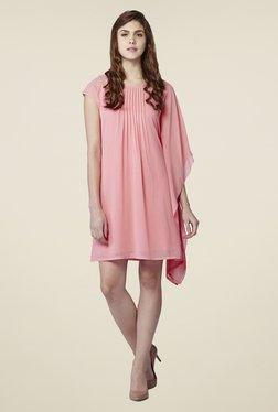 AND Pink Rose Blush Asymmetric Dress