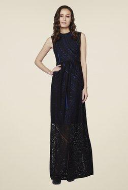 AND Black Beth Printed Maxi Dress