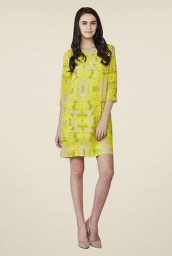 AND Yellow Lynn Printed Shift Dress