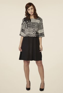AND Black Printed Dress