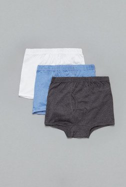Westsport Grey, Blue & White Cotton Trunks (Pack Of 3)