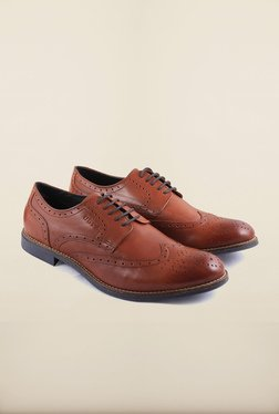 US Polo Assn. Tan Leather Derby Lace Up Shoes