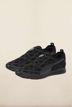 Puma Disc Black Slip-On Shoes