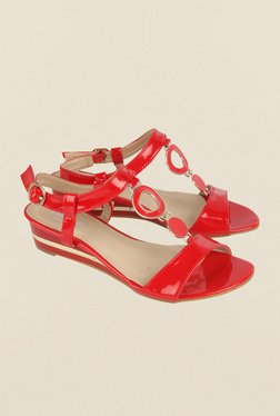 Cobblerz Red Back Strap Wedges