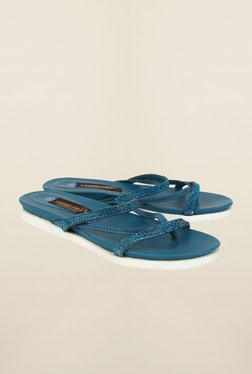 Cobblerz Blue Flat Thongs