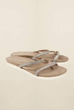 Cobblerz Tan Flat Sandals