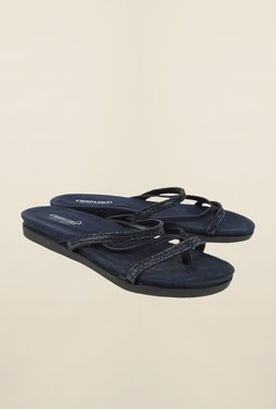 Cobblerz Navy Flat Thongs