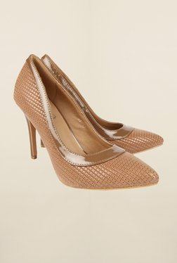 Cobblerz Dark Beige Stiletto Shoes