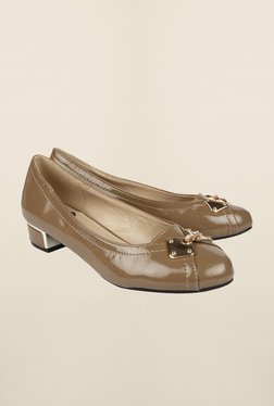 Cobblerz Khaki Ballerina Shoes