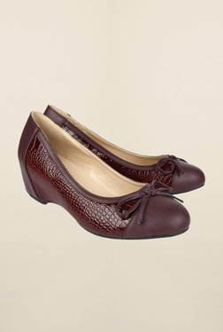 Cobblerz Maroon Wedge Shoes