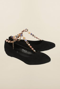 Cobblerz Black Flat Shoes
