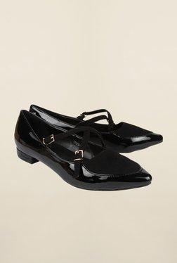 Cobblerz Black Slip-On Shoes