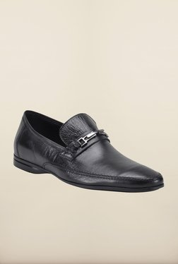 Franco Leone Black Formal Slip-Ons Shoes - Mp000000000203568