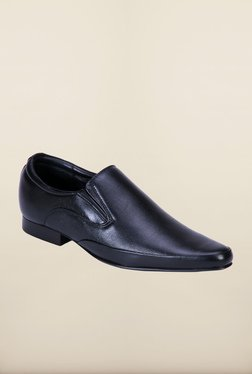 Franco Leone Black Formal Slip-Ons Shoes - Mp000000000203576