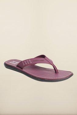 Franco Leone Purple Slippers