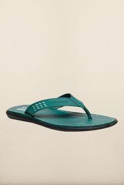 Franco Leone Green Slippers