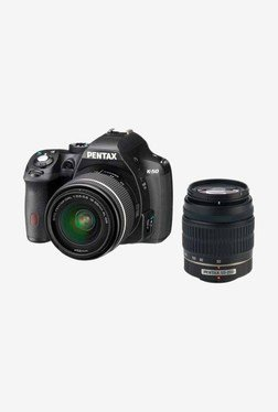 Pentax K-50 (18-55mm & 50-200mm WR Lenses) DSLR Camera Black