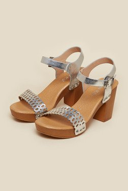 Miss KG by Kurt Geiger Silver Prim Sandals