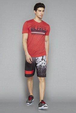 Westsport Black Printed Slim Fit Shorts