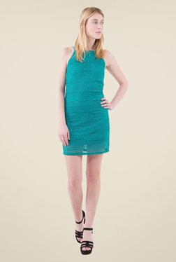 MIM Teal Lace Shift Dress
