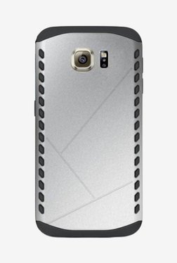 Noise Shield Back Case For Samsung Galaxy S6 Edge (Silver)