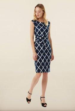 Phase Eight Navy Diamond Print Dress