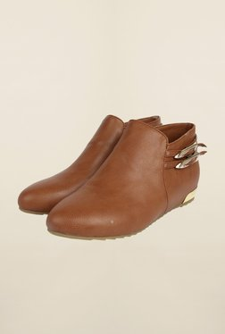 Cobblerz Brown Leather Booties