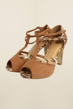 Cobblerz Brown Stiletto Sandals