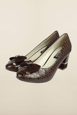 Cobblerz Brown Block Heel Shoes