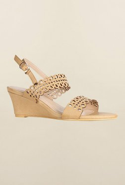 Allen Solly Beige Back Strap Wedges