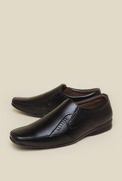 Zudio Black Derby Slip-on Shoes
