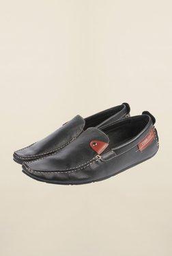 Cobblerz Black Leather Casual Moccasins