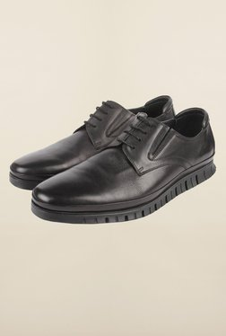 Cobblerz Black Leather Formal Shoes - Mp000000000215766