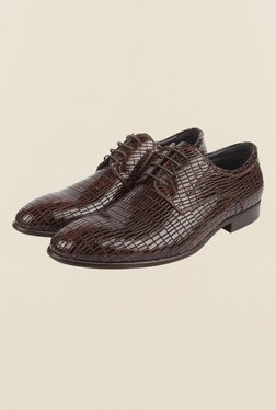 Cobblerz Brown Leather Formal Shoes - Mp000000000214968