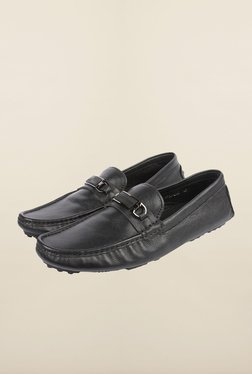 Cobblerz Black Casual Moccasin Shoes