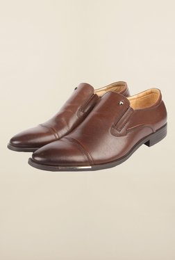Cobblerz Brown Leather Formal Shoes - Mp000000000215797