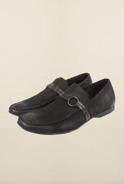 Cobblerz Black Casual Moccasin Shoes