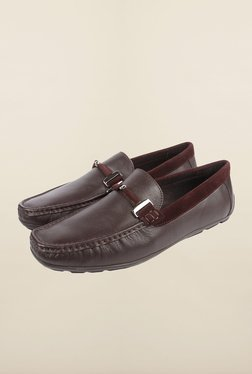 Cobblerz Coffee Leather Moccasin Shoes