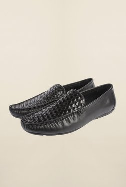 Cobblerz Black Leather Formal Moccasins - Mp000000000215535