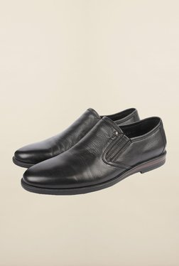 Cobblerz Black Leather Formal Shoes
