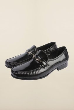 Cobblerz Black Leather Formal Moccasins