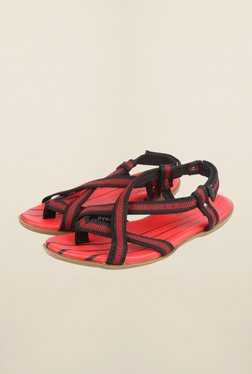 Cobblerz Red & Black Back Strap Sandals