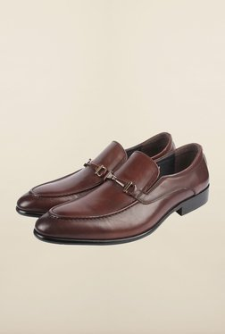 Cobblerz Brown Leather Formal Shoes - Mp000000000215877